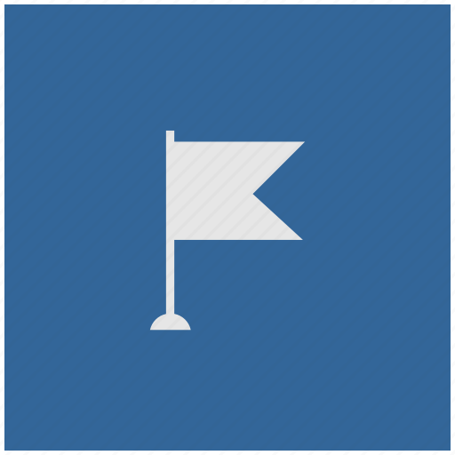 blue, deep, flag, point, pointer, square icon