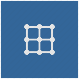 blue, deep, grid, image, square, transform icon