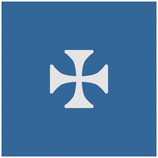 blue, cross, deep, emblem, history, square icon