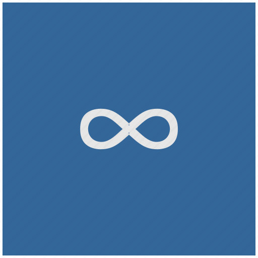 blue, deep, function, infinity, math, square icon