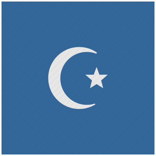 blue, deep, islam, religion, square icon