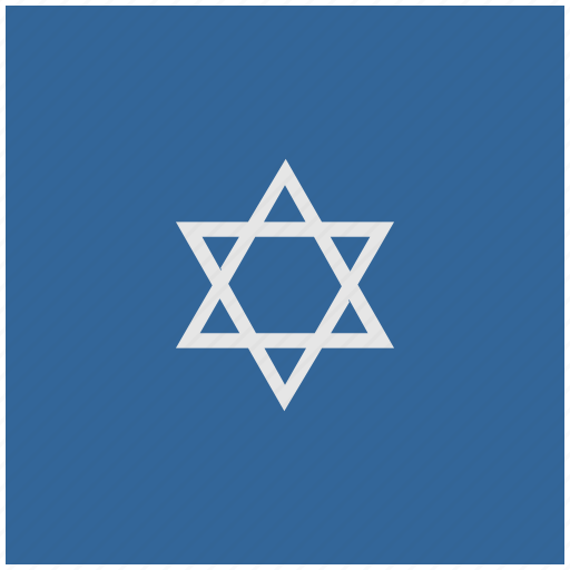 blue, deep, israel, religion, square icon