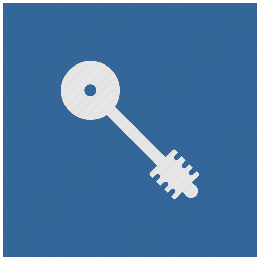 blue, deep, key, pass, square icon