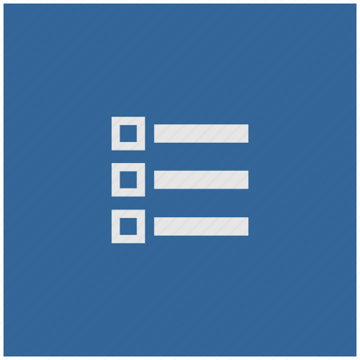 blue, deep, list, listing, order, square icon