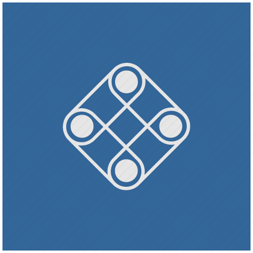 blue, deep, game, logic, play, square icon