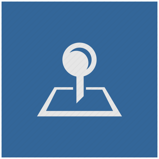 blue, deep, map, pointer, square icon