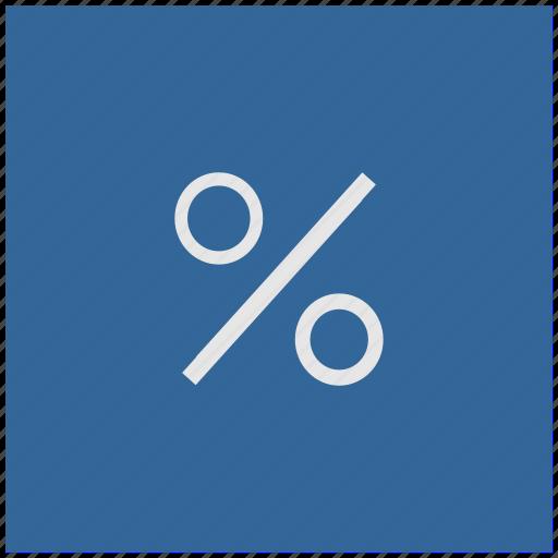 blue, deep, function, math, percent, square icon