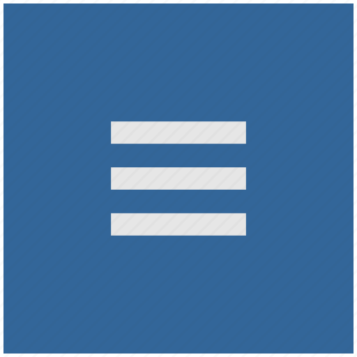 bar, blue, deep, menu, navigation, square icon