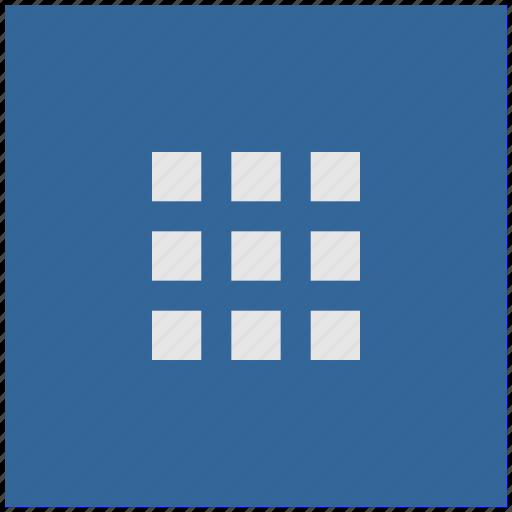 bar, blue, deep, menu, square, tile icon