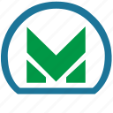 label, m, metro, metropolitan, transport icon
