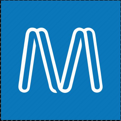 m, metro, metropolitan, sign, underground icon