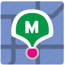 app, geolocation, metro, metropolitan, pointer icon
