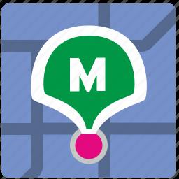 app, geolocation, metro, metropolitan, pointer icon