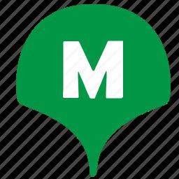 geo, location, metro, metropolitan, pointer icon