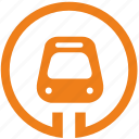 metro, metropolitan, sign, train, transport icon