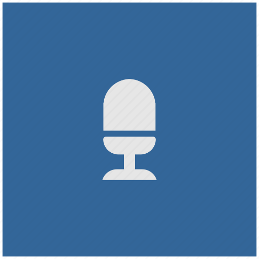 blue, deep, mic, microphone, record, square icon