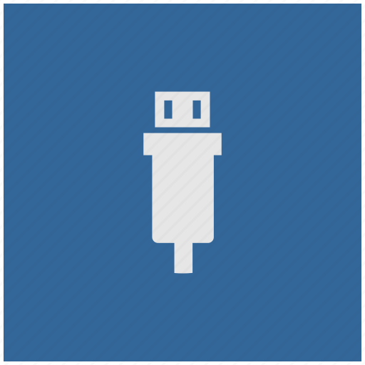 blue, deep, mini, square, usb icon