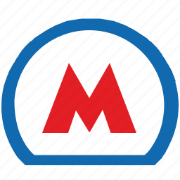 label, metro, metropolitan, moscow, russia, sign icon