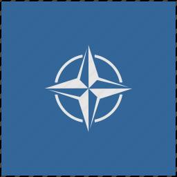 alliance, blue, deep, nato, square icon
