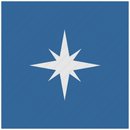 blue, compass, deep, navigation, square, way icon