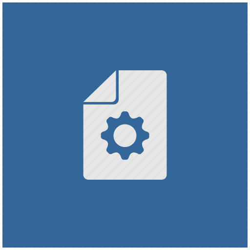 blue, deep, file, new, settings, square icon