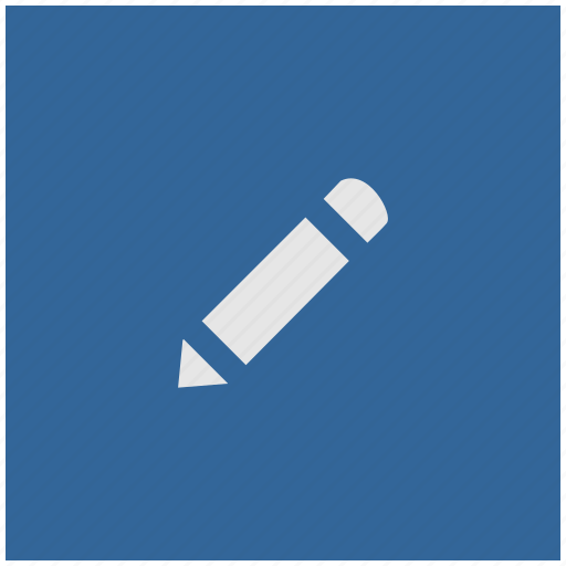 blue, deep, instrument, pen, pencil, square icon