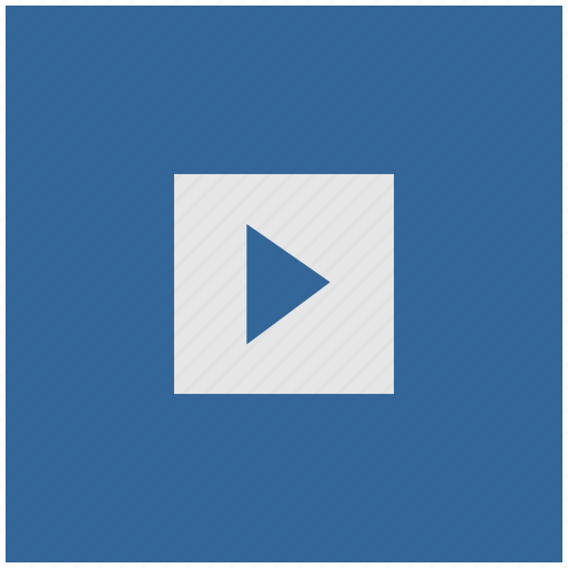 blue, deep, play, playback, player, square icon