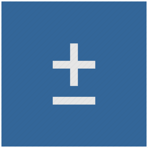 blue, deep, function, math, minus, plus, square icon