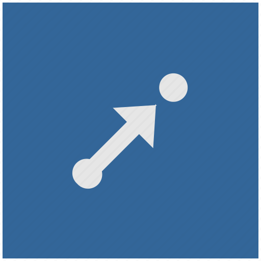 aim, blue, deep, pointer, square, target, way icon