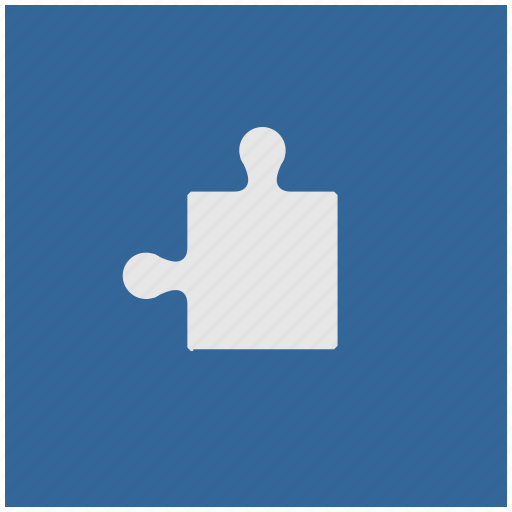 blue, deep, game, logic, puzzle, square icon