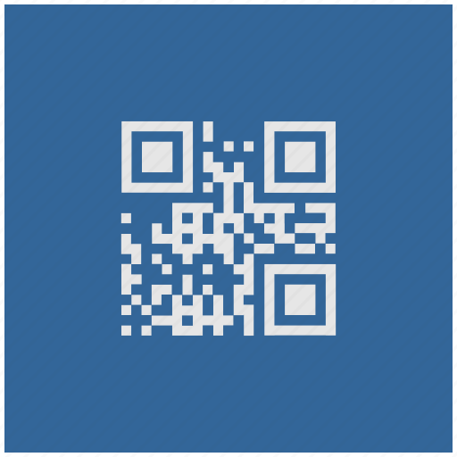 barcode, blue, code, deep, qr, square icon