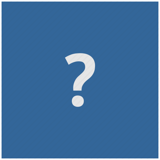 ask, blue, deep, quest, question, square icon