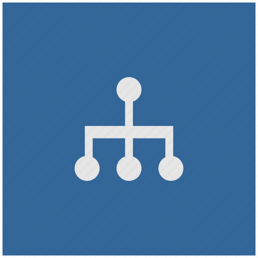 blue, deep, map, sitemap, square, structure icon