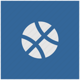 ball, blue, deep, game, sport, square icon