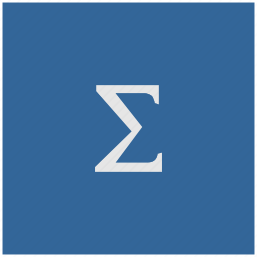 blue, deep, function, math, square, sum, summa icon