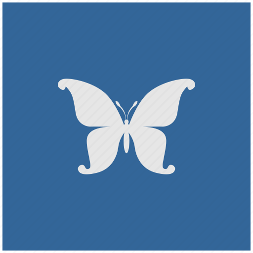 blue, butterfly, deep, square, swallowtail icon