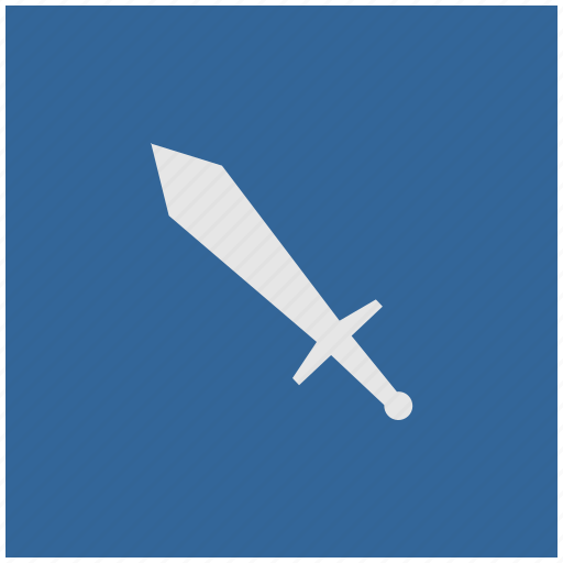 blue, deep, square, sword, weapon icon