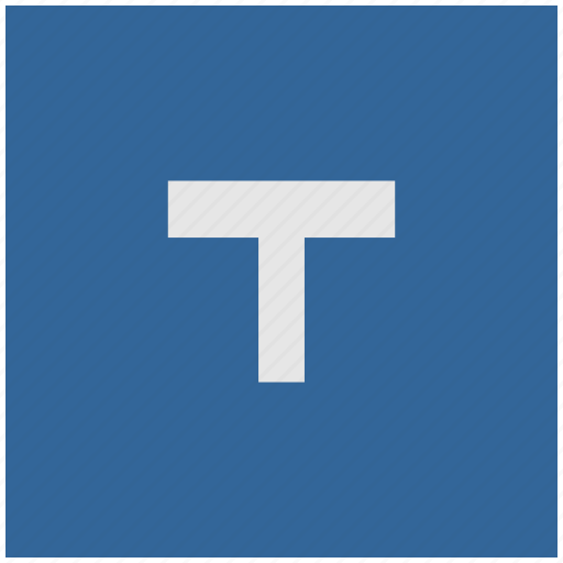 blue, bus, deep, square, t, transport icon