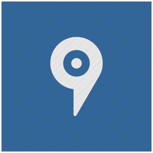 blue, deep, geo, pointer, square, tag icon