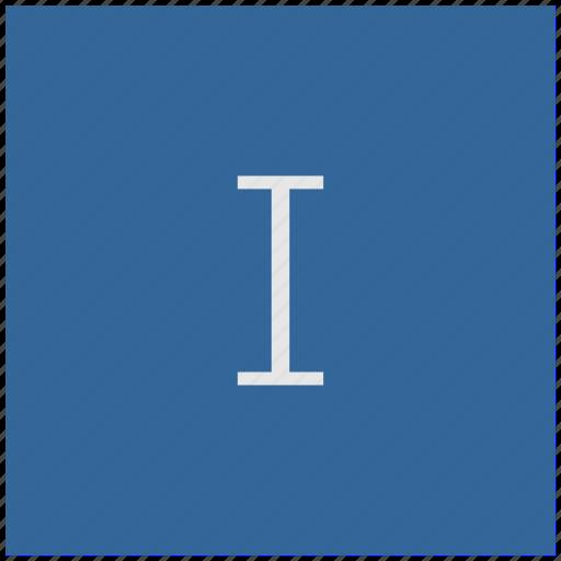 blue, cursor, deep, edit, space, square, text icon