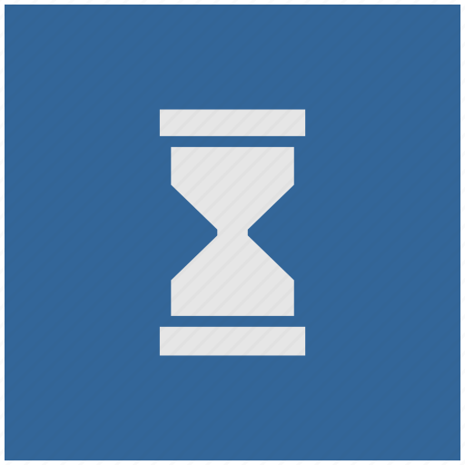 blue, deep, pause, square, time icon
