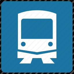 label, metro, metropolitan, train, transport icon