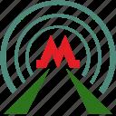 m, metro, metropolitan, train, transport, tunnel icon