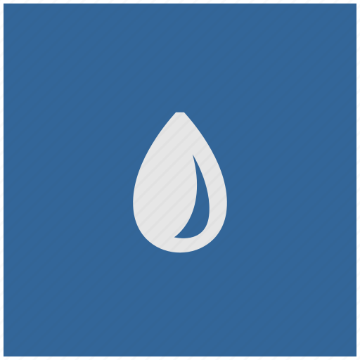 blue, deep, drop, fluid, square, water icon