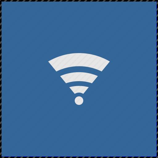 access, blue, deep, internet, square, wifi icon