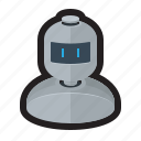 artificial intelligence, bot, machine, robot, user icon