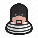 criminal, cybercriminal, hacker, keylogger, user icon