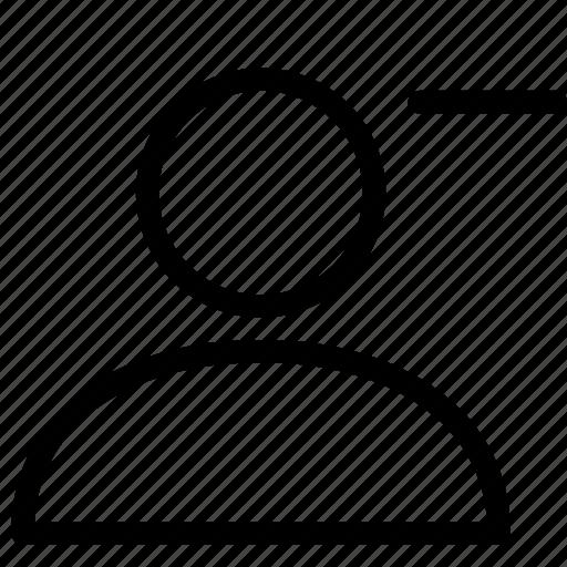 avatar, delete, female, male, profile, remove, style1 icon