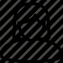 avatar, female, girl, people, profile, user, woman icon