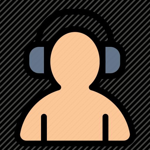 Avatar, headphone, man, support icon - Download on Iconfinder